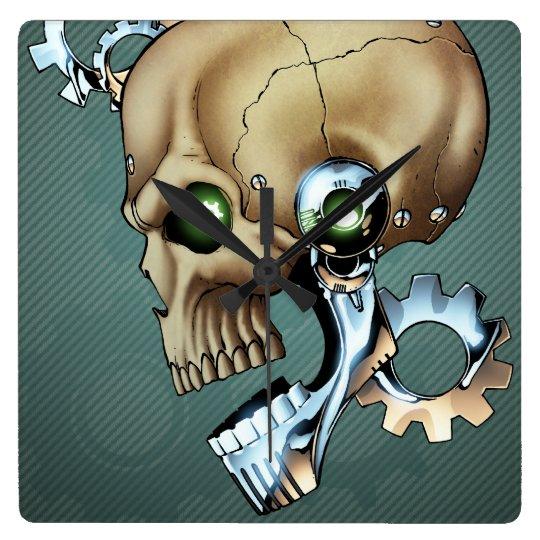 Alien Robot Skull from the Future in Chrome