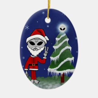 Alien Santa Christmas Ornament