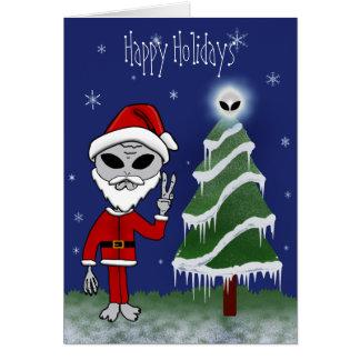 Alien Santa Holiday Cards