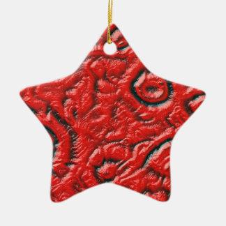 Alien skin ceramic star decoration