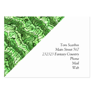 alien skin green pack of chubby business cards