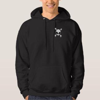 Alien skull & Cross bones graffiti hoodie