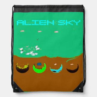 Alien Sky Surreal Drawstring Backpack