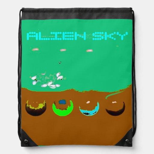 Alien Sky Surreal Drawstring Backpack Drawstring Bag