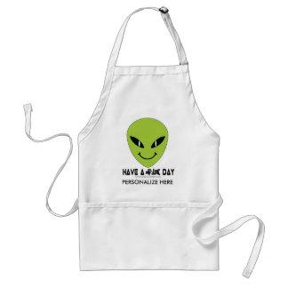 Alien Smiley Face Standard Apron