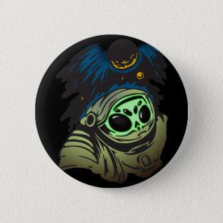 Alien Space Exploration 6 Cm Round Badge