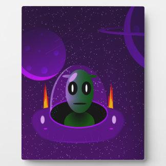 Alien space plaque