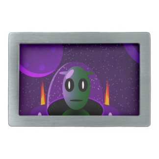 Alien space rectangular belt buckles