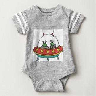 Alien Spaceship Baby Jersey Bodysuit