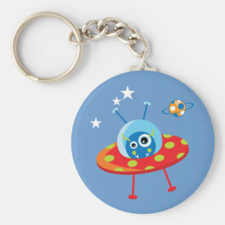 Alien Spaceship Keychain