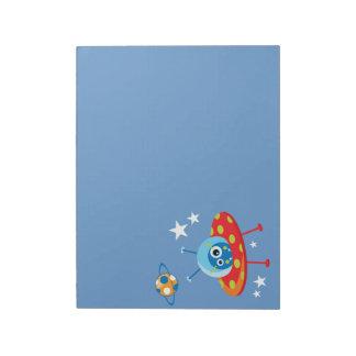 Alien Spaceship Notepad