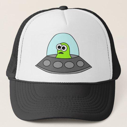 Alien Spaceship Trucker Hat