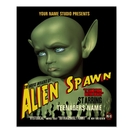 Alien Spawn B-Movie Customisable Poster