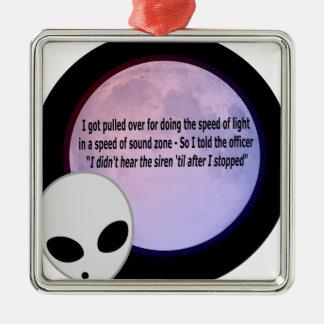 Alien Speed Joke.png Christmas Ornament