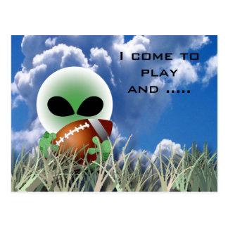 Alien sports all occasion postcard