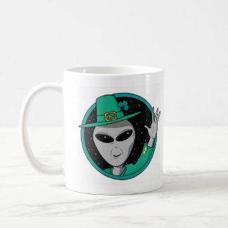 Alien St Pattys Day Coffee Mug