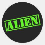 Alien Stamp Round Stickers