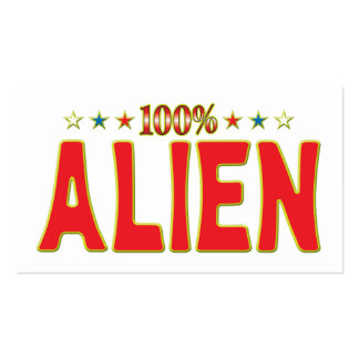 Alien Star Tag Business Card Template