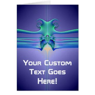 Alien Stingray Greeting Cards