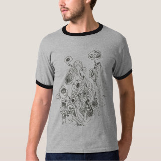 Alien T-Shirt Gray and Black