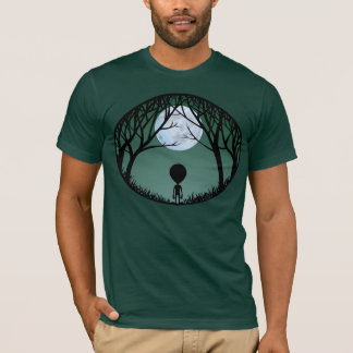 Alien T-shirt Men's Alien w. Moon Shirts ET Tops
