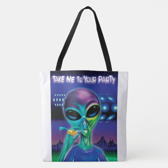 Alien Take me to your Party Tote Bag