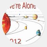 Alien TEMPLATE Round Sticker