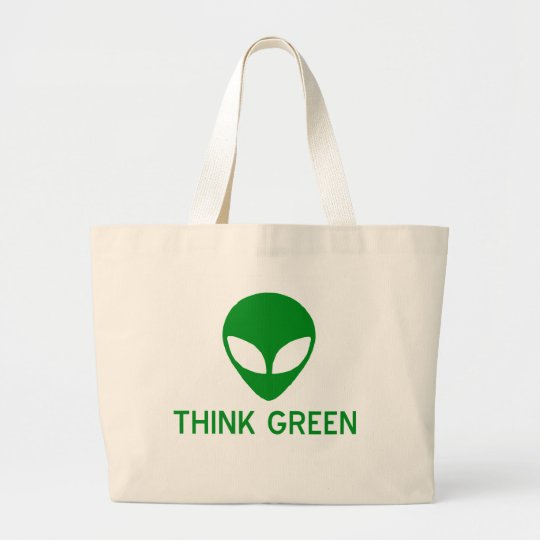 Alien Think Green Tote Bag