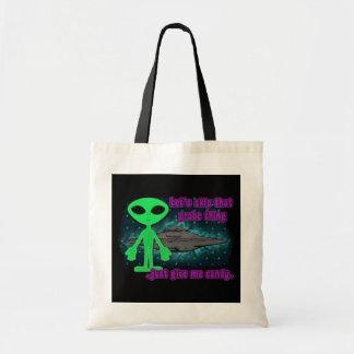 Alien Trick or Treat Tote Bag