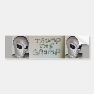 Alien/Trump Bumper Sticker