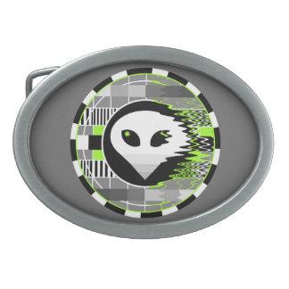 Alien TV Round buckle grey oval Belt Buckles