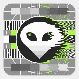 Alien TV sticker square
