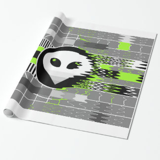Alien TV wrapping paper