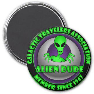 Alien & UFO Keychains & Flair 7.5 Cm Round Magnet