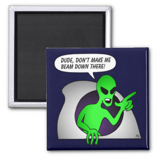 Alien & UFO Keychains & Flair Square Magnet