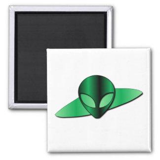 Alien UFO Square Magnet