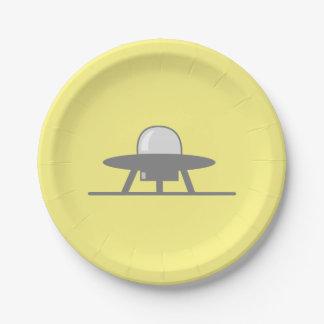 Alien Visitation Paper Plate