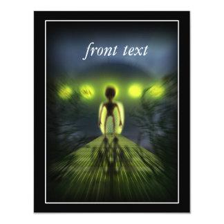 Alien Visitor 11 Cm X 14 Cm Invitation Card