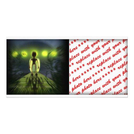 Alien Visitor Custom Photo Card