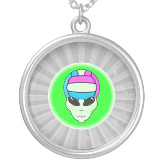 alien volleyball extreme sports design 2 personalized necklace