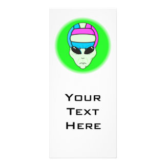 alien volleyball extreme sports design 2 rack card