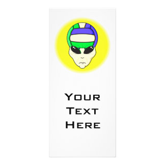alien volleyball extreme sports design customised rack card