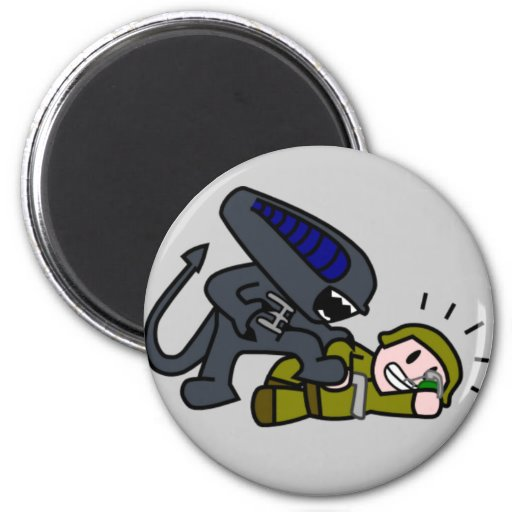 Alien vs Soldier Magnets