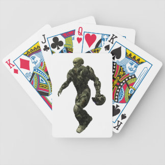 Alien Warrior Bicycle Playing Cards