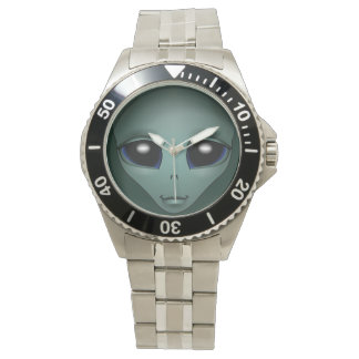 Alien Watch Cute Grey Alien ET Alien Wrist Watch