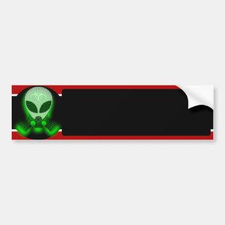Alien Wearing Gas Mask bumper sticker