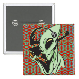 Alien Wired For Music 15 Cm Square Badge