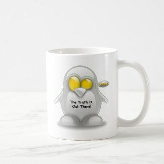 Alien with UFO Tux Coffee Mug