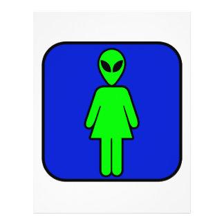 Alien Woman Personalized Flyer