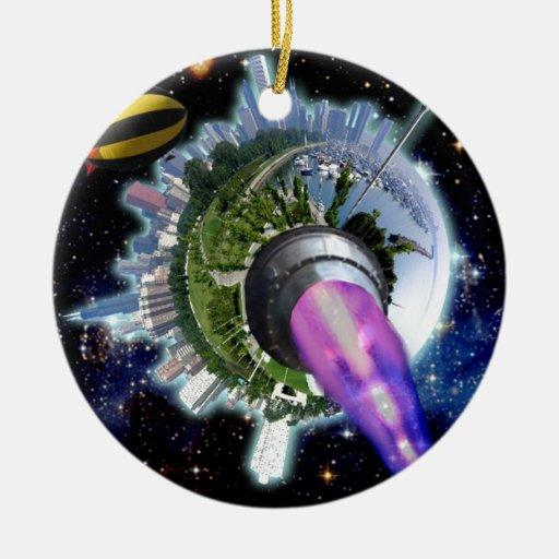 Alienate Treason! Restore the 2nd Amendment! Black Christmas Tree Ornaments
